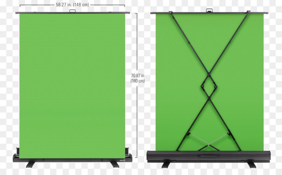 Elgato Green screen front and back view